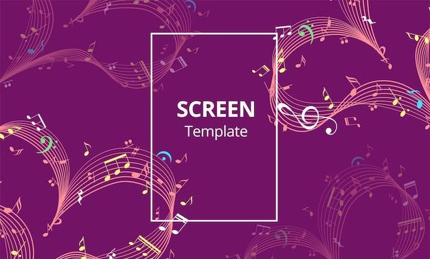 スクリーンセーバーデザインまたは音楽ハートバレンタインデーデザイン要素ベクトルとwebバナー