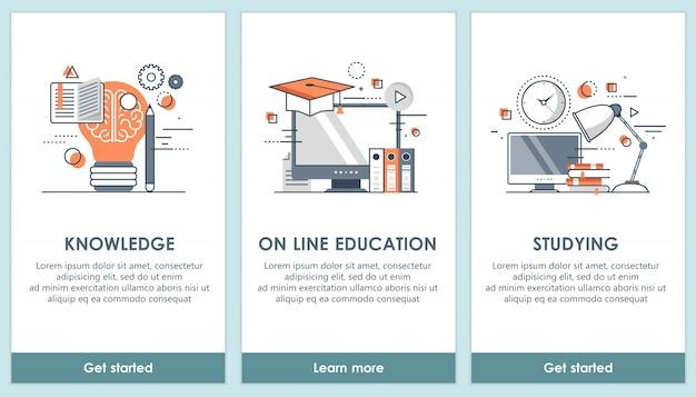 モバイルスマートフォン、教育のためのスクリーンテンプレート