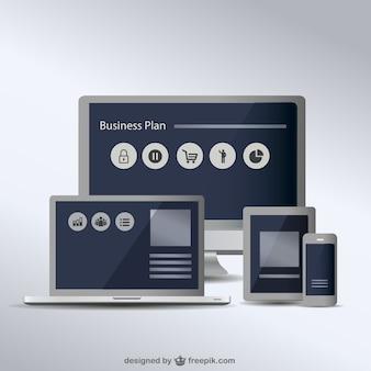Свободный вектор коллекция экранов