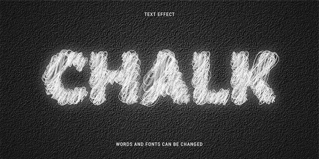 Scribble chalk text effect on black textured background editable 100 eps cc