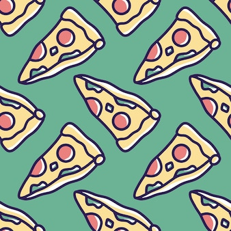 Scribble pattern of fast food pizza hand drawing