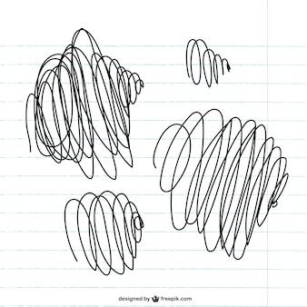 Scribbles on paper vector