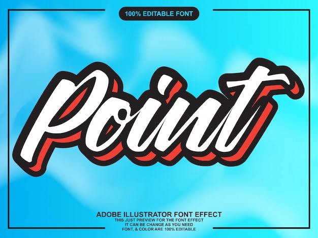 Script editable typography font effect