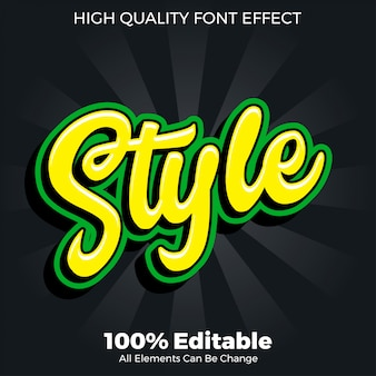 Script style sticker text style editable font effect