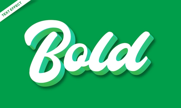 Script white and green 3d text effect or font effect