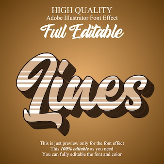 Script with lines editable graphic style text effect