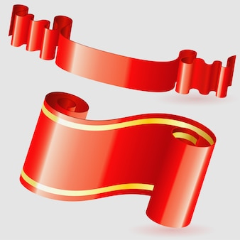 Scroll red ribbon