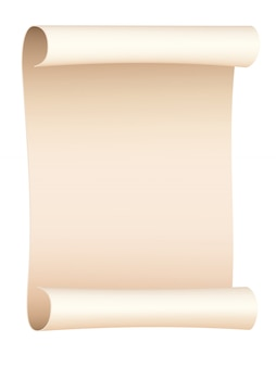 Scrolled old paper sheet isolated. vector illustration.