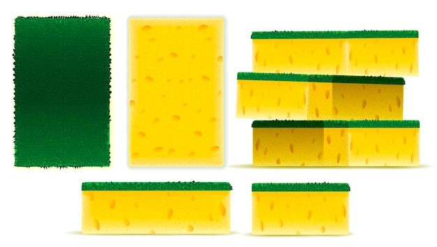 Scrub yellow sponge set design