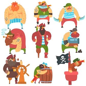 だらしない海賊漫画のキャラクターセット