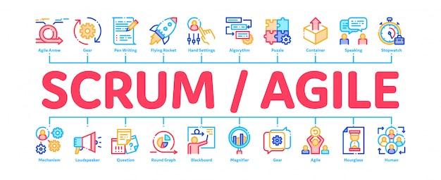 Scrum agile banner