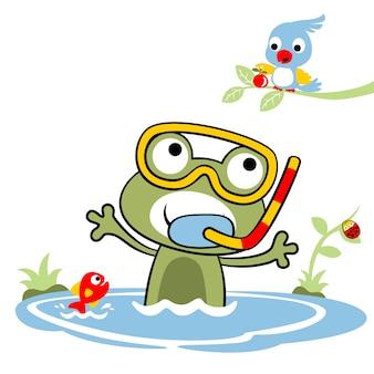 Scuba dive, cartoon vector