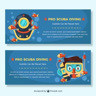 Scuba diving banners