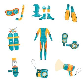 Scuba diving gear set
