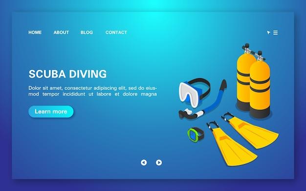 Scuba diving landing page template