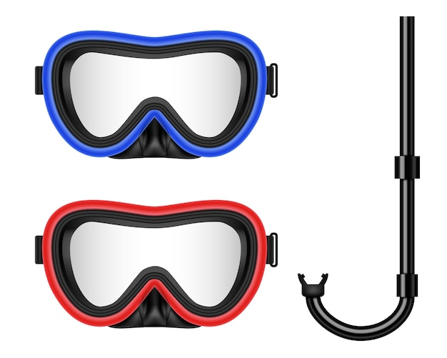 Scuba diving, swimming mask with snorkel