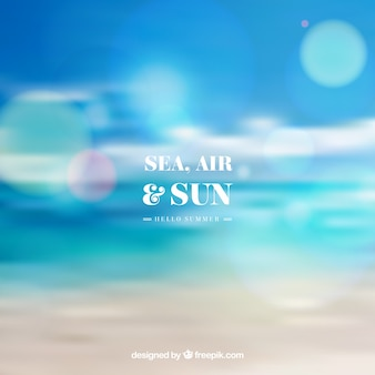 Sea air and sun with blurred background