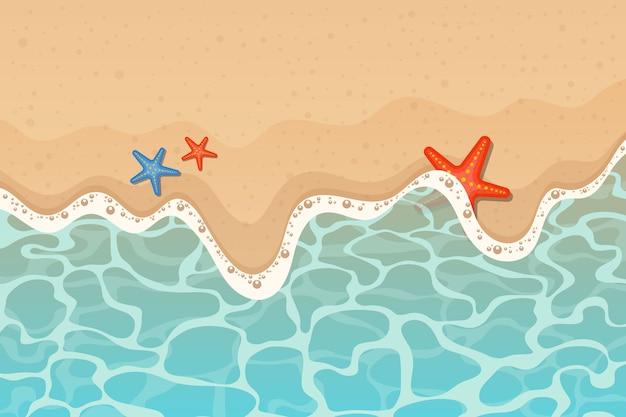 星と海とビーチの背景