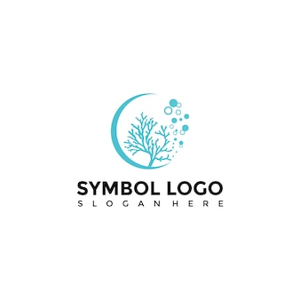 Sea and coral Logo Template