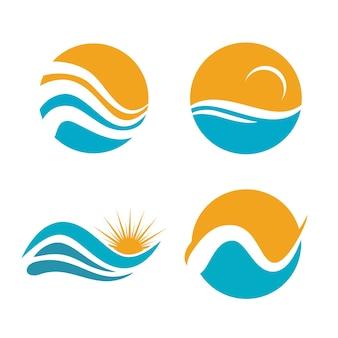 Значок логотипа sea and ocean