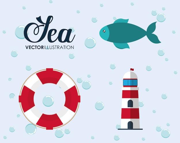 바다 동물과 라이프 스타일 디자인