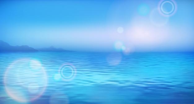 조용하고 맑은 바다 배경