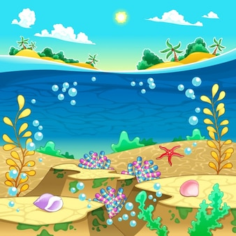 Sea background design
