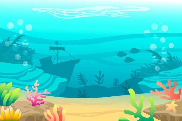 Under the sea background theme