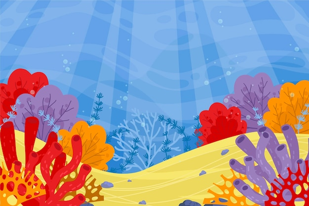 Under the sea background for video calls