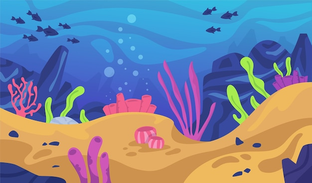 Under the sea background for video conferencing