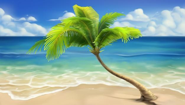 Sea beach realistic background