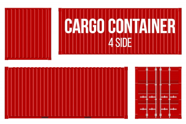 Sea cargo shipping, transportation containers.