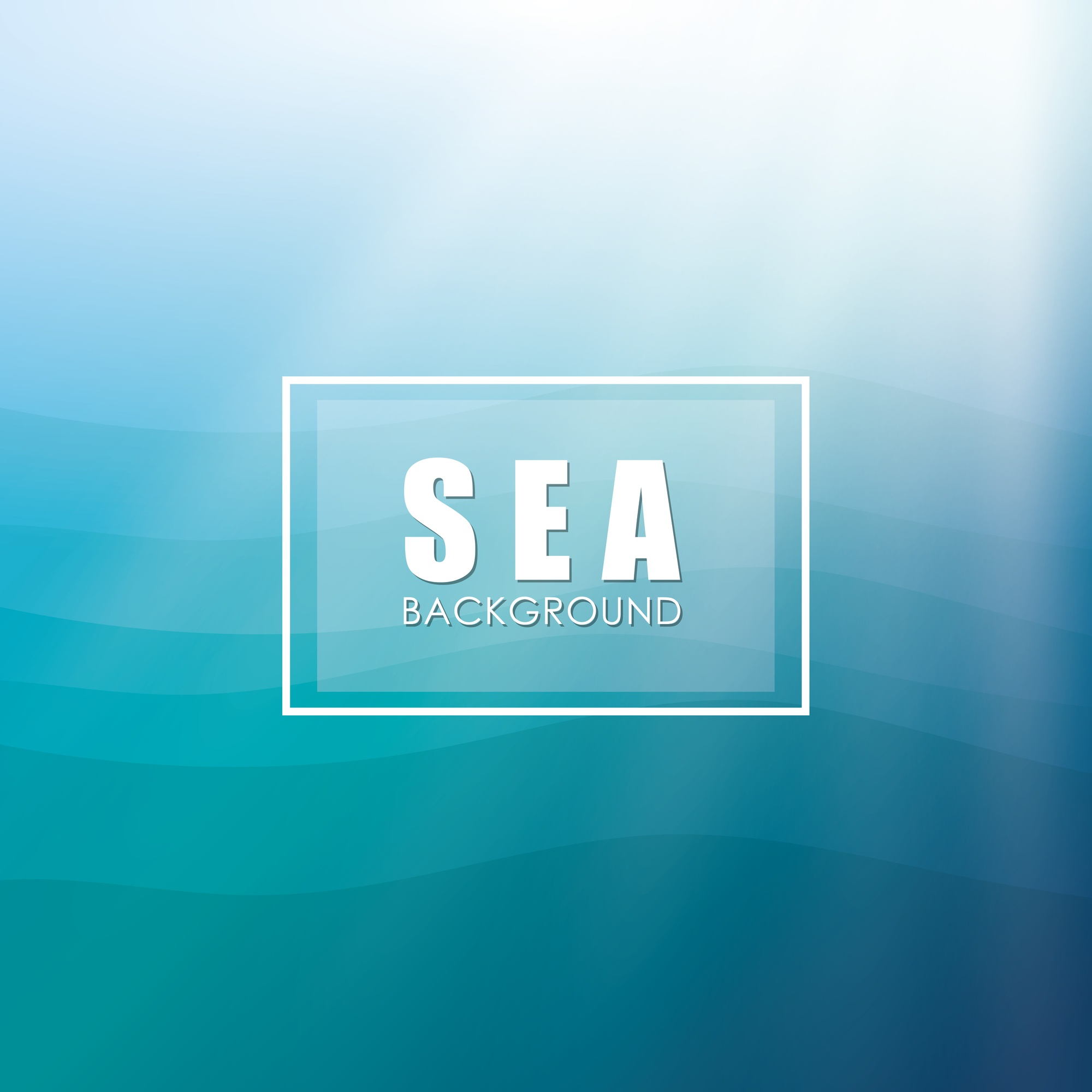 Sea  concept with icon design