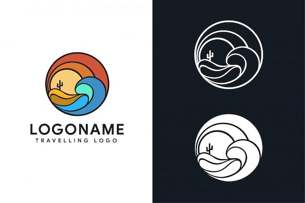 Sea desert travelling logo