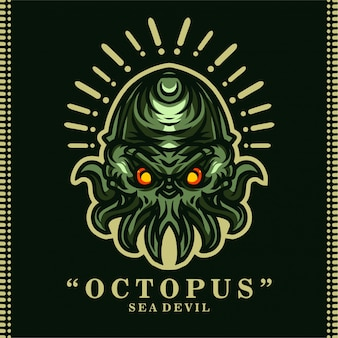 Sea devil octopus t shirt design