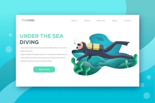 Sea diving landing page