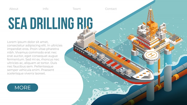 가스 및 석유를위한 해상 시추 장비 플랫폼