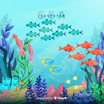 Sea ecosystem background
