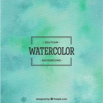 Sea foam watercolor background