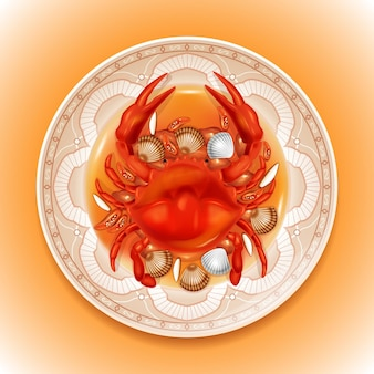 Sea food realistic vector