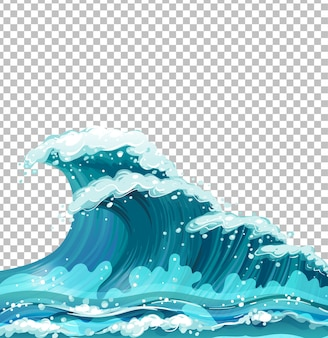 海の巨大な波