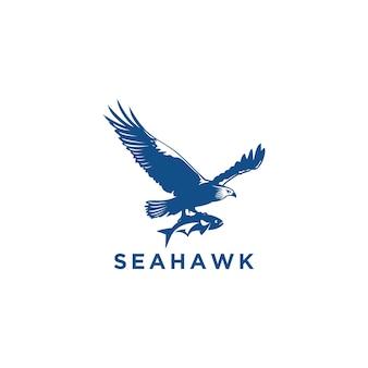 Sea hawk logo design template