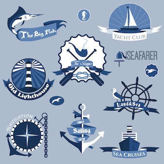 Sea labels set