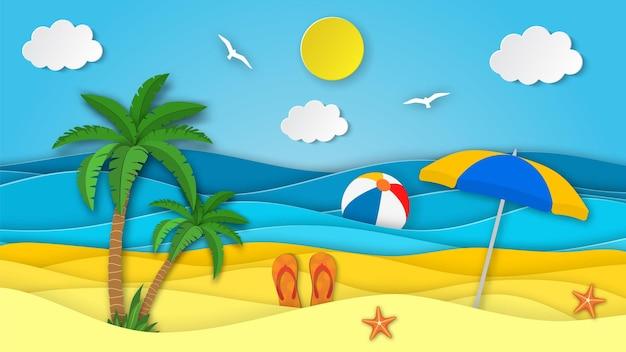 Sea landscape with beach