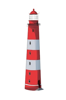 Sea lighthouse from multicolored paints splash of watercolor colored drawing realistic