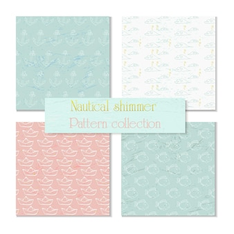 Sea and nautical backgrounds, pattern. vector illustration.