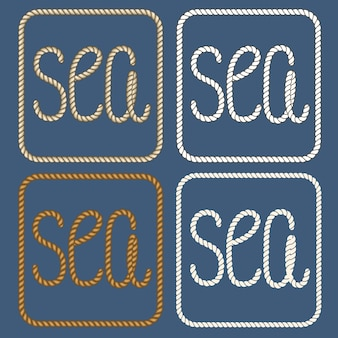 Sea nautical ropes design elements