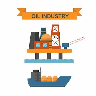 Sea oil rig offshore platform technology