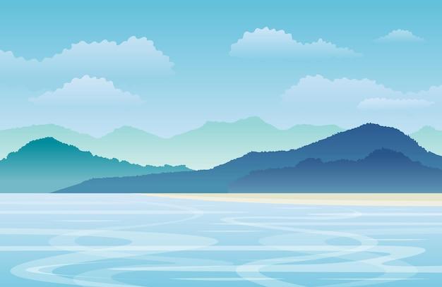 Море или озеро пейзаж морской пейзаж фон