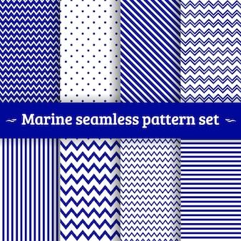 Sea pattern seamless set
